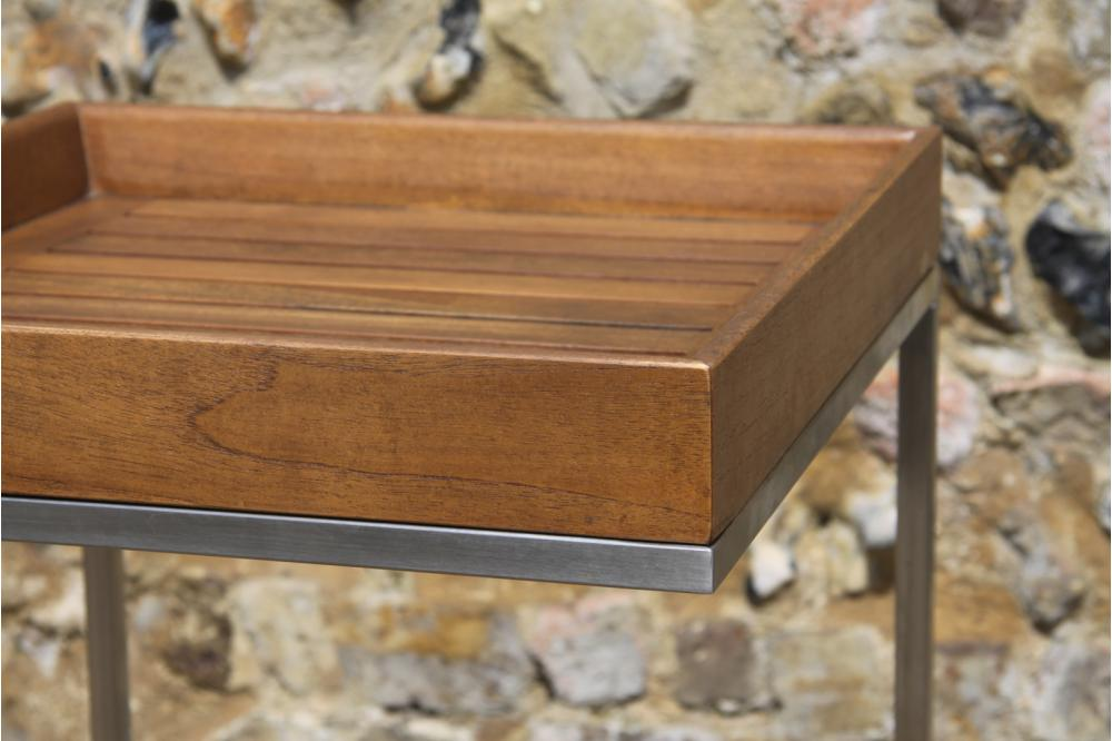 Cantilever Coffee Table In Teak And Stainless Steel